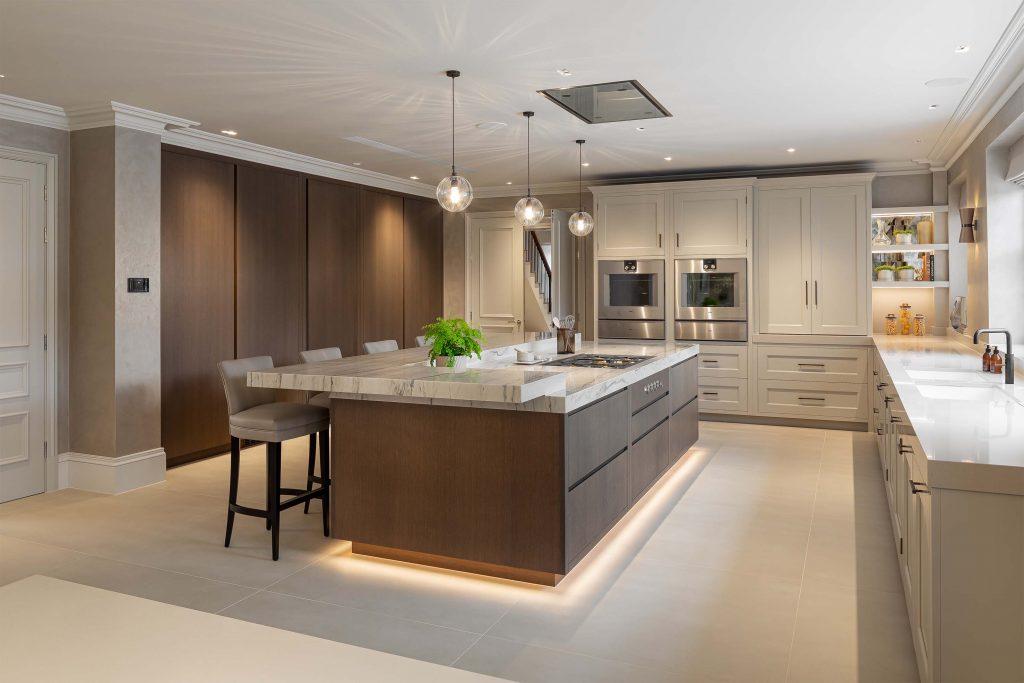 Contemporary luxury modern kitchen design in Sevenoaks Kent